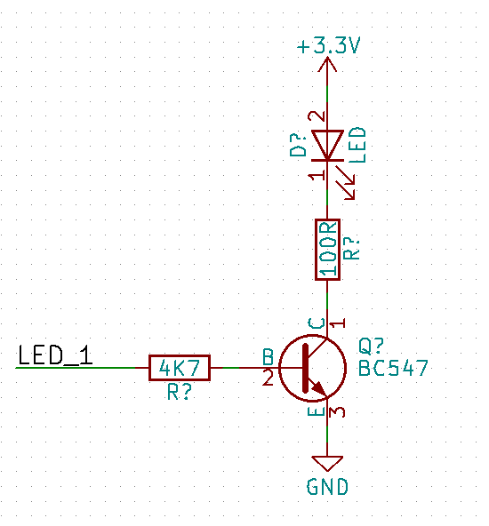 Buffered LED schematic